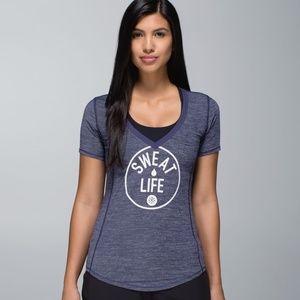 Lululemon Runner Up Sweat Life Short SleeveT-Shirt